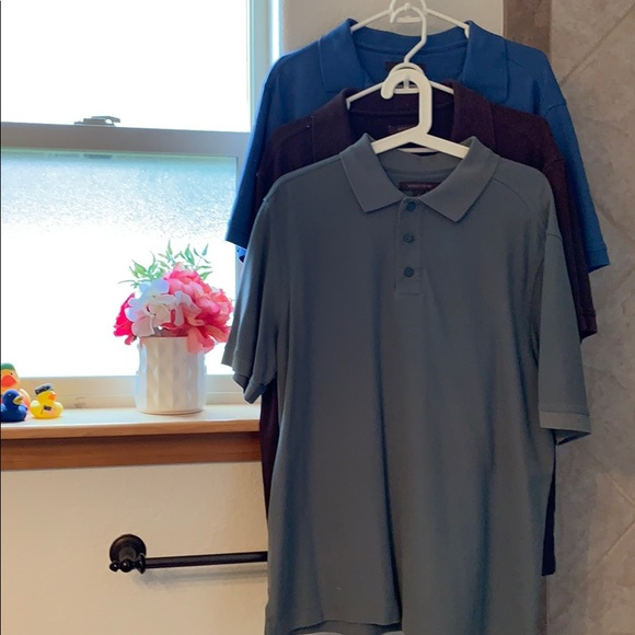 Nordstrom Other - 3 soft Nordstrom polo shirts EUC size L -a STEAL!